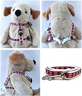 "product image for Diva-Dog 'Harlequin Pink' Custom 5/8"" Wide Dog Step-in Harness with Plain or Engraved Buckle, Matching Leash Available - Teacup, XS/S"