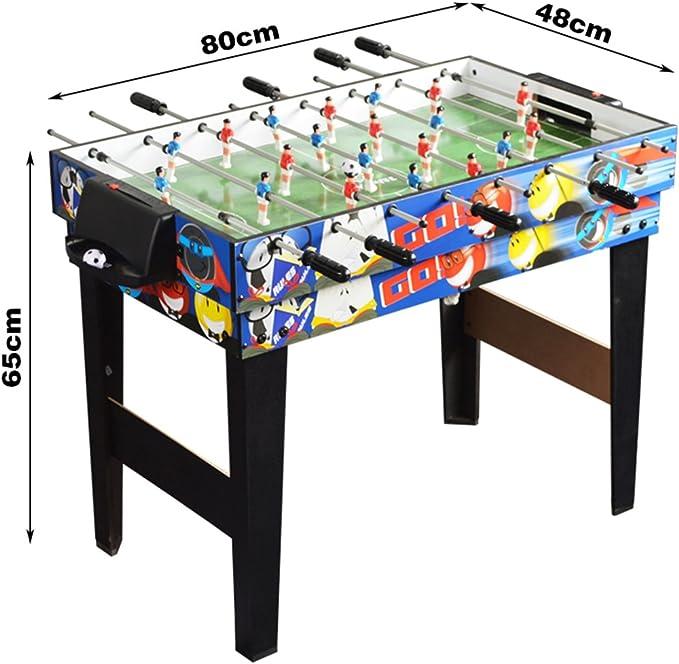 WIN.MAX Deluxe - Juego de mesa de juego 4 en 1 multifunción de 122 cm / 122 cm, mesa de ping pong, hockey deslizante, futbolín de fútbol, juego de piscina para niños