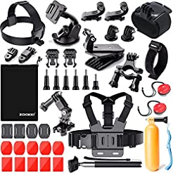 ZOOKKI Sports Camera Accessories Kit for...