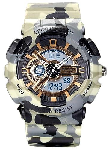d2502eede711 Relojes para Jóvenes adultos niños niñas deporte Militar sumergible 50 M