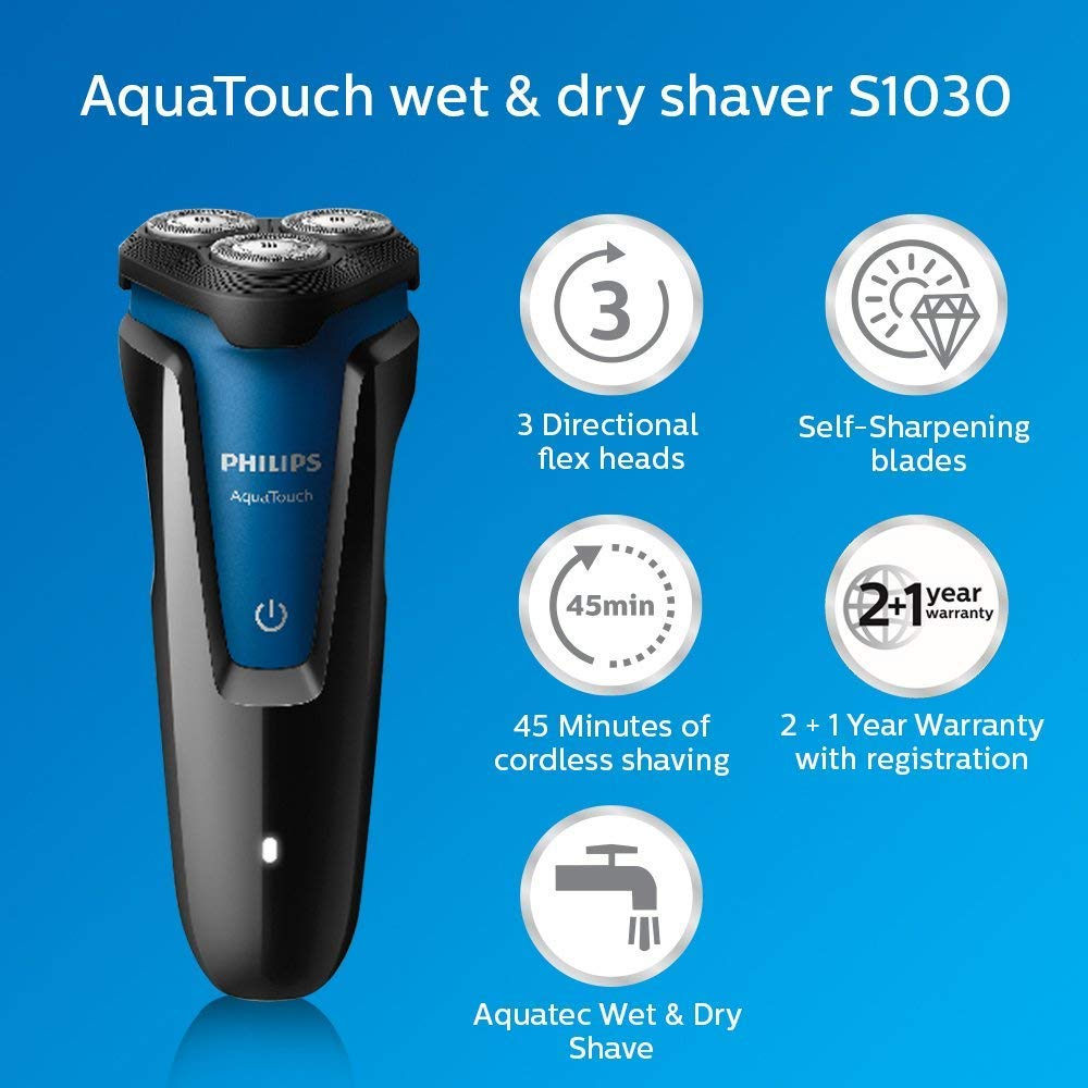 3430c229d Philips S1030/04 Wet and Dry Electric Shaver (Black): Amazon.in: Health &  Personal Care