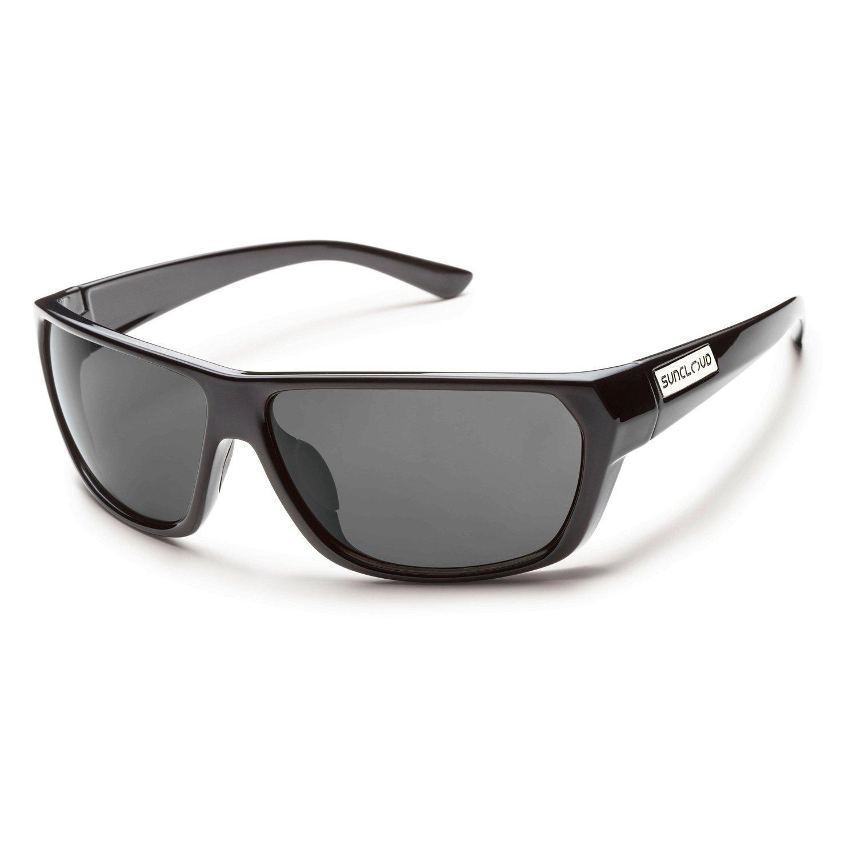 Suncloud Feedback Polarized Sunglasses, Black Frame, Gray Polycarbonate Lenses