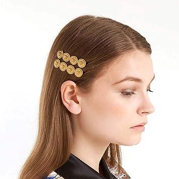 2Pcs Geometric Snap Barrette Womens Girls Hair Clip Slide Clamp Hair Accessories