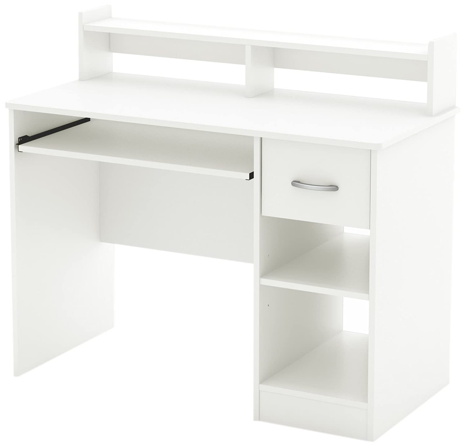 Amazon South Shore Axess Desk With Keyboard Tray White Kitchen Dining