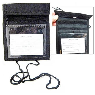 NEW ID Badge Press Pass Passport Holder Neck Wallet Strap Organizer Pouch Unisex