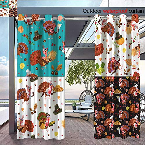 Patio Curtains Harvest-set--organic-foods-like-fruit-and-vegetables--happy-thanksgiving-dinner-background--vector-illustration-harvesting-with-pumpkin-and-stack-of-wheat-ears--cranberry-berries--bun -