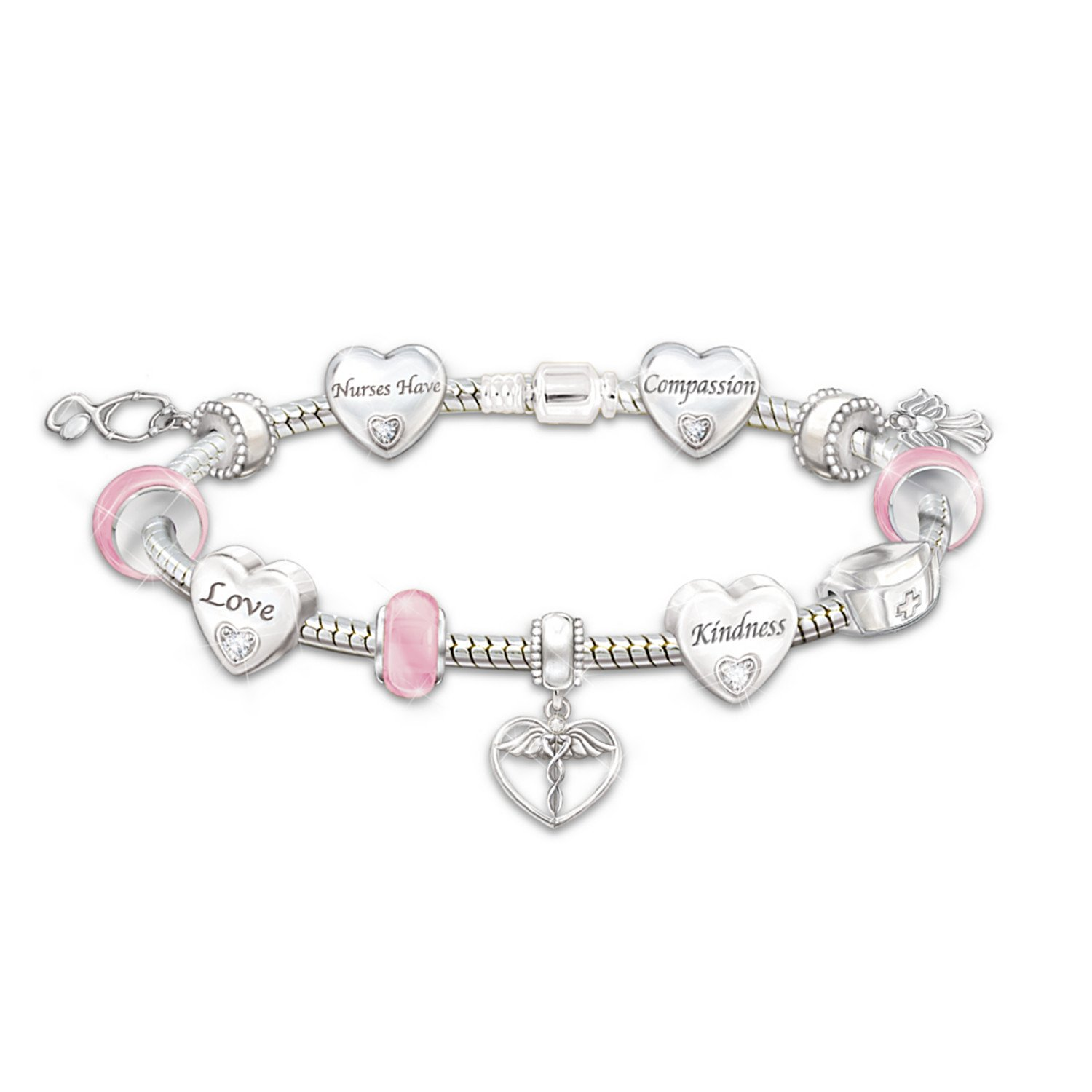 A Nurse's Heart Charm Bracelet by The Bradford Exchange by Bradford Exchange (Image #1)