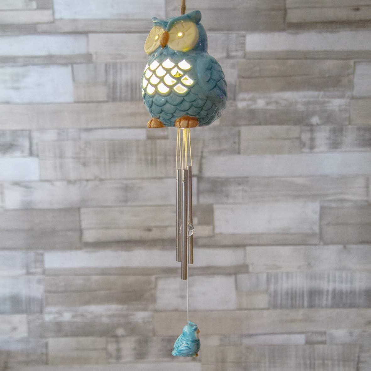 Festive Lights - Carillón LED Solar de Color cambiante, se Enciende automáticamente al Atardecer de la Noche, decoración de jardín Original y Zen: Amazon.es: Jardín