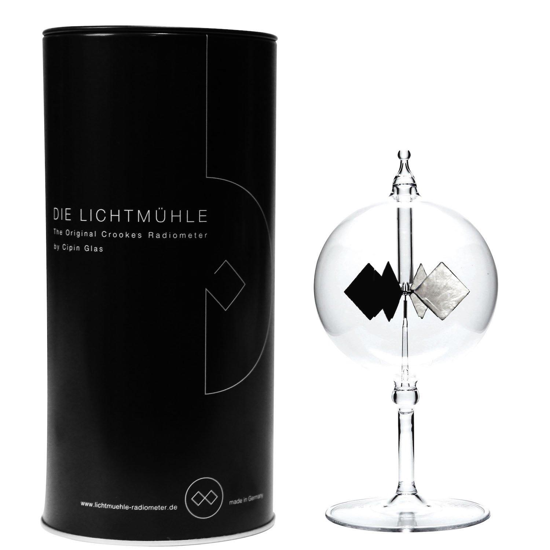cipin vetro Black Edition luce mulino a radio Meter, Vetro, Trasparente, 8x 8x 16cm Cipin Glas L024GK