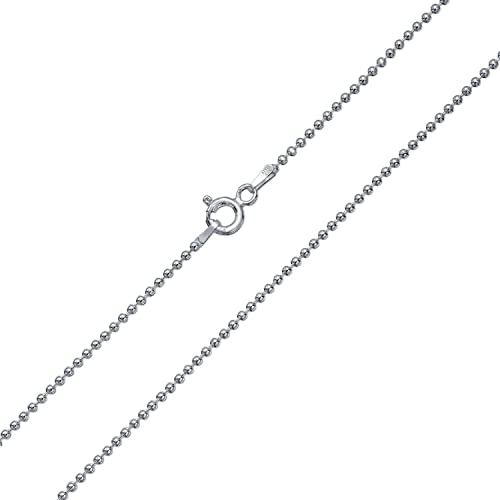 quot ball lengths necklace silver or dp chain sterling bead