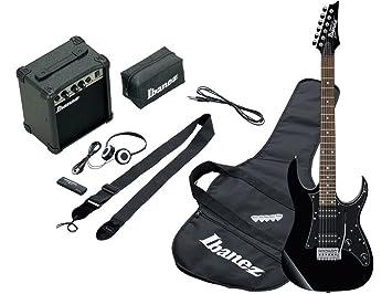 Ibanez ijrg200 BK Jumpstart Kit Negro - Kit de guitarra eléctrica negra con amplificador 10 W y accesorios: Amazon.es: Instrumentos musicales
