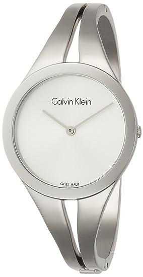 Calvin Klein Reloj Analogico para Mujer de Cuarzo con Correa en Acero Inoxidable K7W2M116: Amazon.es: Relojes