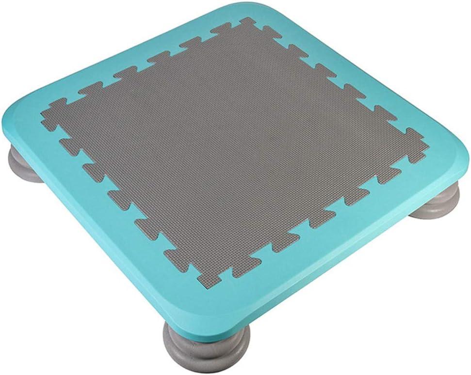 LXXTI Trampolin Cama Elastica Exterior, Cama Elastica Infantil Interior Pequena, Cama Elástica Gran Estabilidad para Juego Deporte Exterior Jardín, 65×65×12.5 Cm