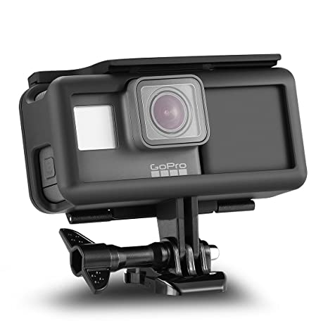 ORBMART Extended Battery for GoPro 5,GoPro 6, Extra Battery with Shockproof Protective Frame, Housing Case with Side Power Bank for GoPro Here 5 Hero ...