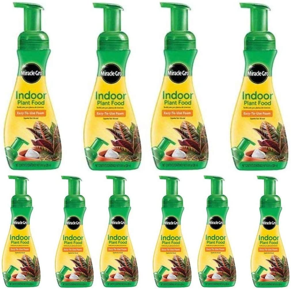 Miracle-GRO Indoor Plant Food, 8-Ounce (Plant Fertilizer) (2 Count) - Pack of 5