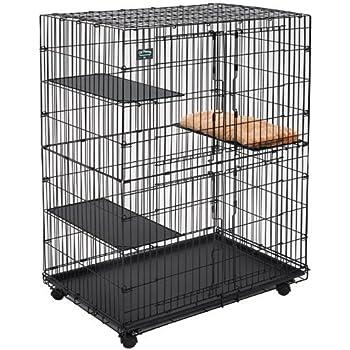 MidWest Cat Playpen / Cat Cage Includes 3 Adjustable Resting Platforms,  Removable Leak Proof