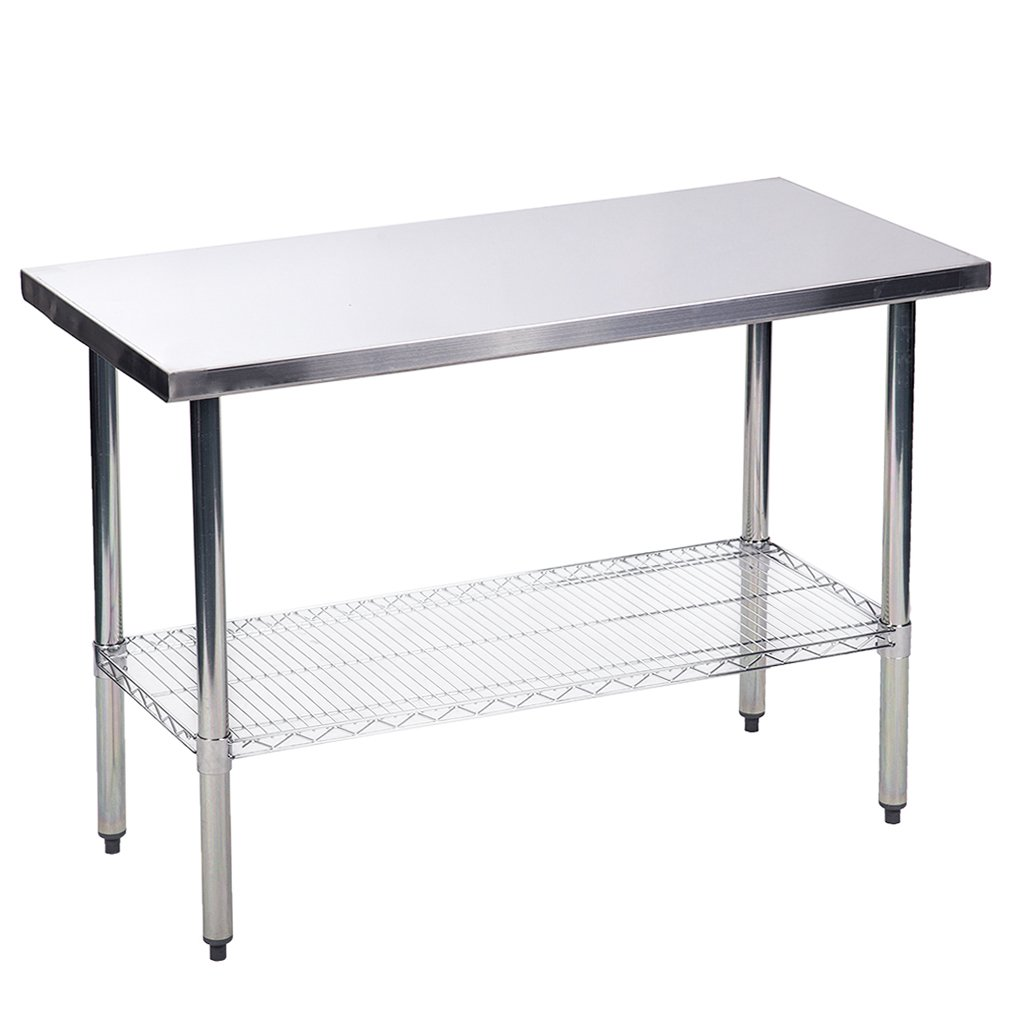 24'' x48'' Stainless Steel Kitchen Work Table w/Wire Lower Shelf Commercial