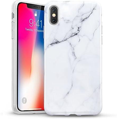 ESR Cover Marmo iPhone X, Custodia Morbida [Ultra Leggera e Chiaro] Silicone Ultra Sottile Case per Apple iPhone X da 5.8 Pollici.