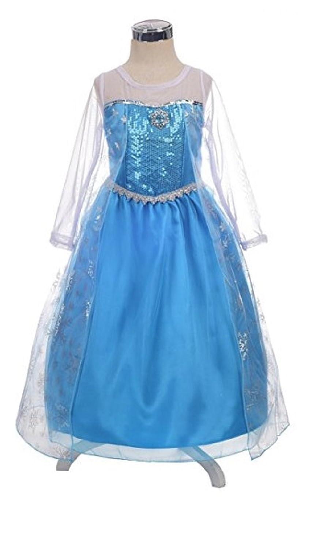 halloweenaroundcorner. Com Queen Elsa Inspiredプリンセスドレスプラスアクセサリーセット 43528  B07C86PW66
