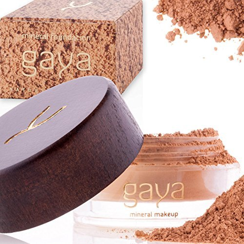 Mineral Foundation Vegan Makeup Powder - Unique 4 IN 1 MF5 Shade 100% Natural Multipurpose Full Coverage For All Skin Types - Foundation, Concealer, Powder & Sunscreen In a 9gr Jar