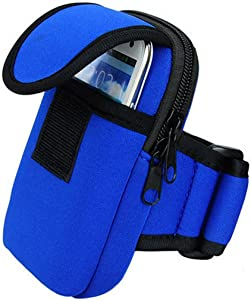 Woderful 4326456478 Sports Running Mobile Phone MP3 Wallet Holder Arm Package Hiking Exercise Bag for iPhone 6/6S Plus Arm Package/Bag 5.Inch (Blue)