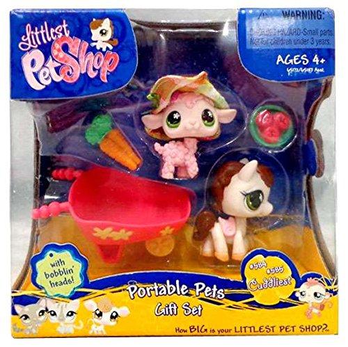 (Littlest Pet Shop Exclusive Cuddliest Portable Gift Set Pink Sheep & Horse)