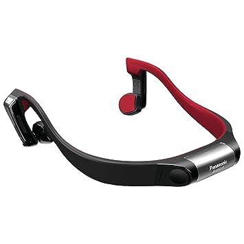Panasonic BTGS10 Banda para Cuello Binaural Inalámbrico Negro, Rojo: Amazon.es: Electrónica