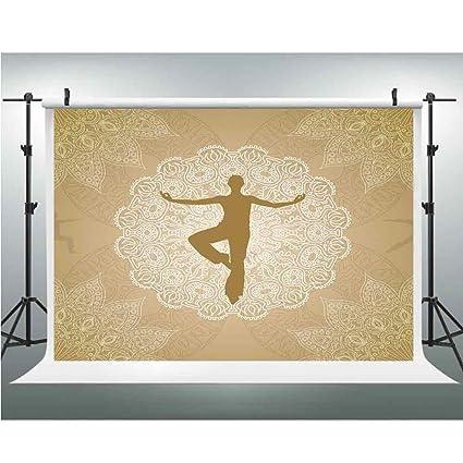 Amazon.com : Backdrop, Yoga, Photography Garden Backdrop for ...