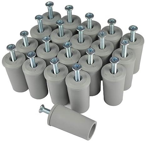 Anschlagpuffer Stopper f/ür Rollladen Jalousie 30 mm wei/ß mit Scheibe u Schraube