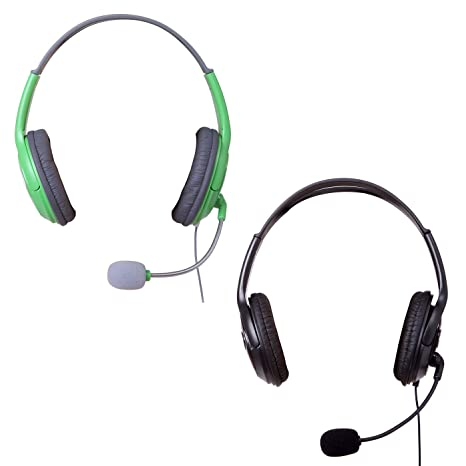 HDE XBOX 360 Headset Headphone Mic Game Chat Live Microphone Compatible With Wireless Controller 2