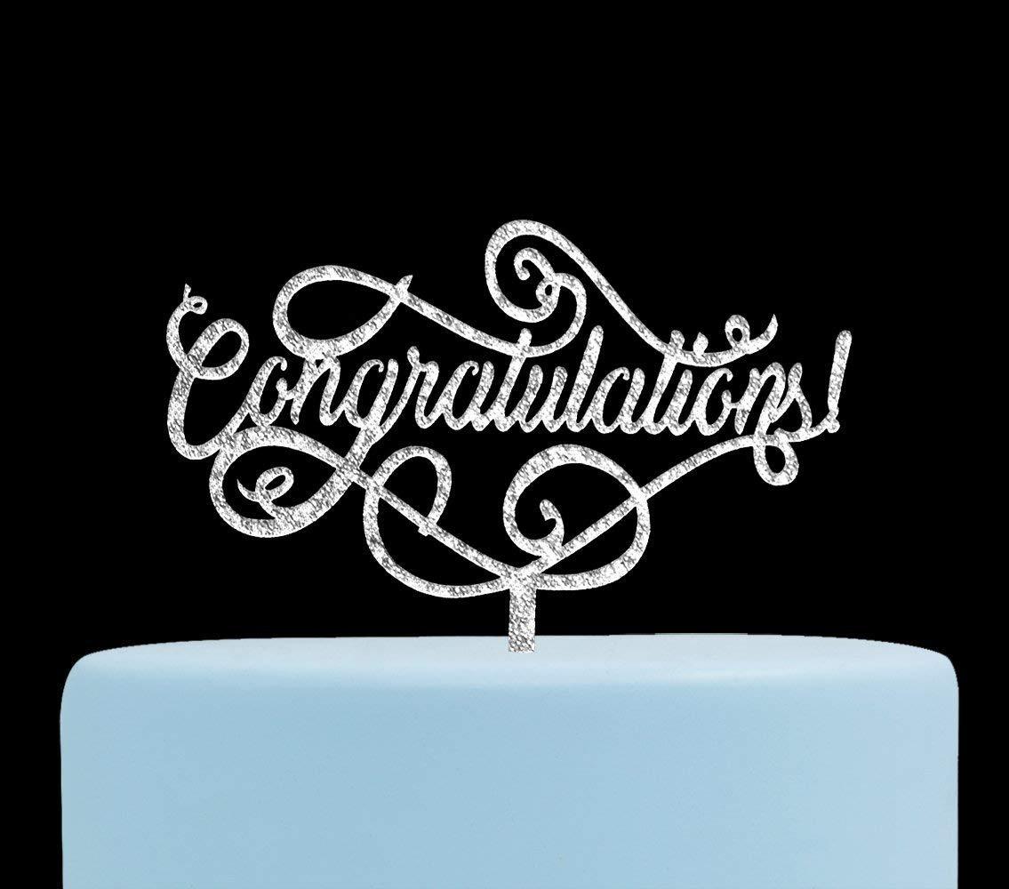 Firefairy Congratulations Gold Cake Topper Wedding Retirement Party Supplies Graduation