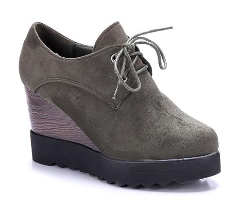 c370ac5f106f37 Schuhtempel24 Damen Schuhe Ankle Boots Stiefel Stiefeletten Keilabsatz 9  cm  Amazon.de  Schuhe   Handtaschen