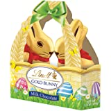 Lindt Gold foiled Milk Chocolate Bunny basket 100g