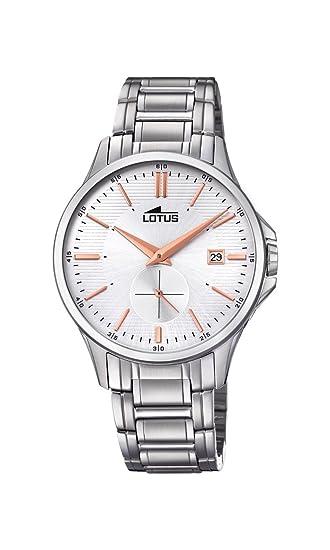 Lotus Watches Reloj Análogo clásico para Hombre de Cuarzo con Correa en Acero Inoxidable 18423/2