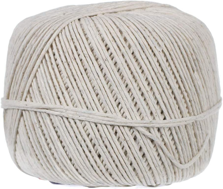 Polished Cotton Twine – Soft Cotton Yarn for Packing, Crafts Projects, and Food Service – Multiple Twine Diameters and Lengths Available (1.5mm X 690 feet)