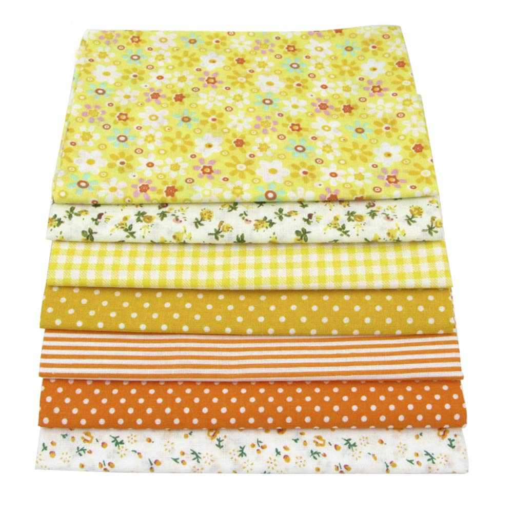 56pcs/lot 9.8'' x 9.8'' (25cm x 25cm) No Repeat Design Printed Floral Cotton Fabric for Patchwork, Sewing Tissue to Patchwork,Quilting Squares Bundles by BYY (Image #8)