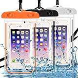 Waterproof Case 3 Pack, MAXIN Cell Phone Dry Bag Pouch for Outdoor Activities for Devices up to 6.0in- Glow in Dark
