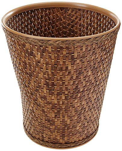 Lamont Home Carter Round Wastebasket, Cappuccino Home Wastebasket
