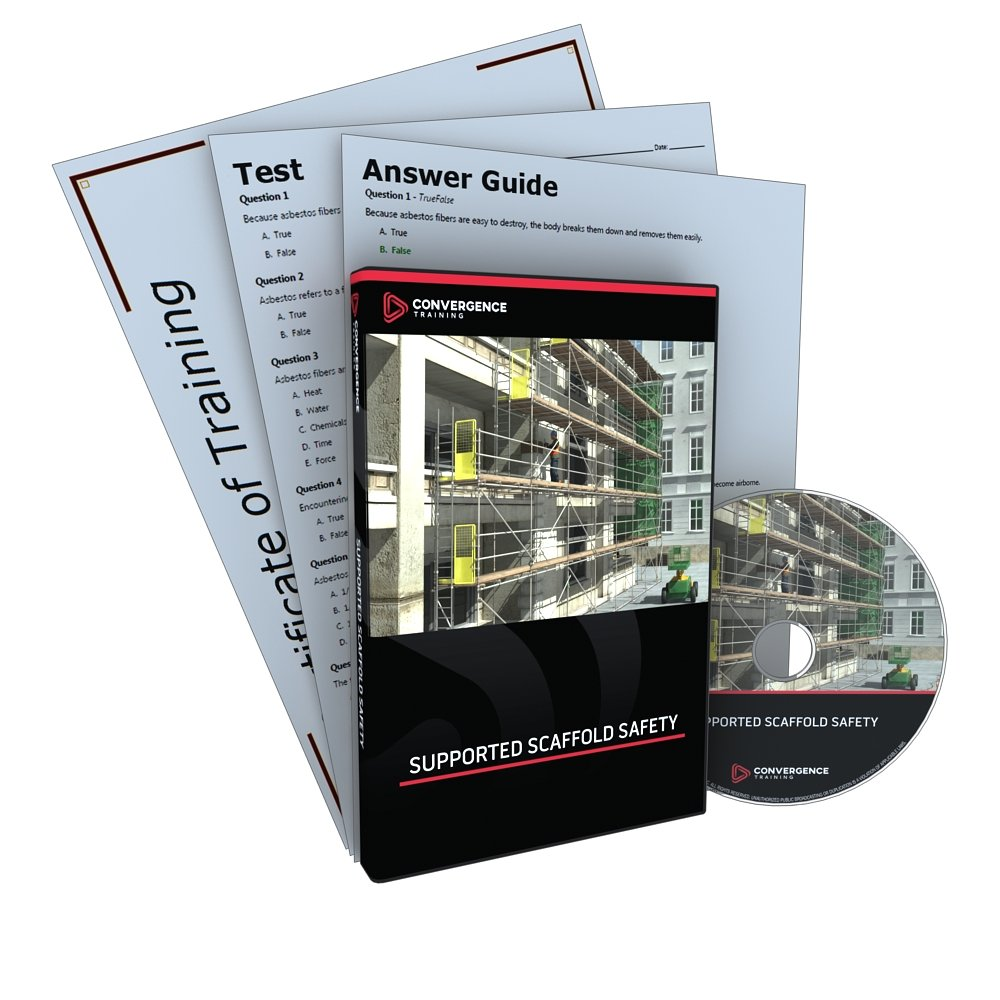 Convergence C-354 Supported Scaffold Safety Training Program DVD, 40 minutes Time