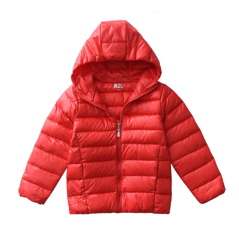 M2C Boys & Girls Ultralight Windproof Hooded Down Puffer Jacket
