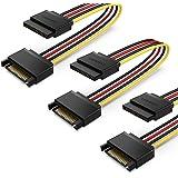 UGREEN SATA 電源延長ケーブル 【3本セット】 SATA 15ピン オス To メス HDD、SSD、SATA 光学ドライブ、PCI-E等に対応 20cm