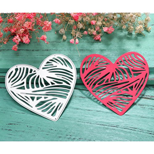 Transer Metal Cutting Dies - Love Heart Die Stencil for DIY Scrapbooking Album Paper Card Decor Craft (B)