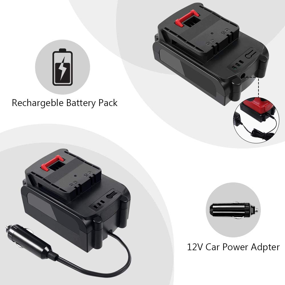 IPARTS EXPERT Portable Electric Air Compressor 12 V 120 PSI Wireless Inflator with LCD Screen