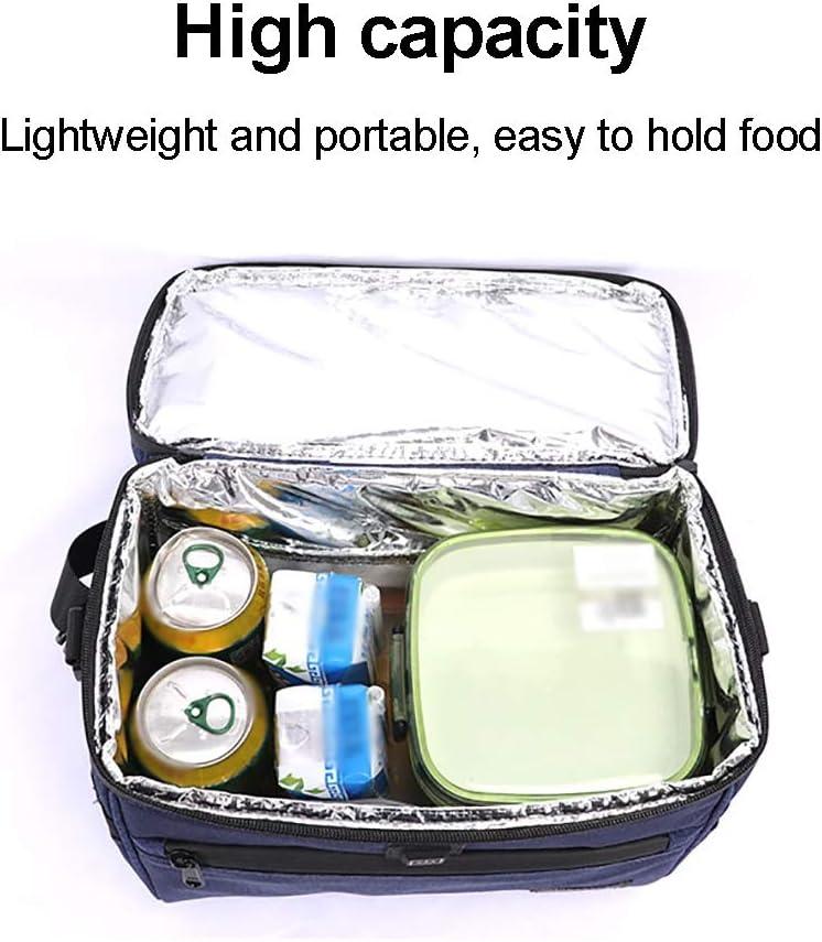 Borsa Termica Impermeabile Pranzo Borsa, con Pulsante USB per Mantenere freschi Gli Alimenti, Adatta a Viaggi di Lavoro (Color : Gray) Black