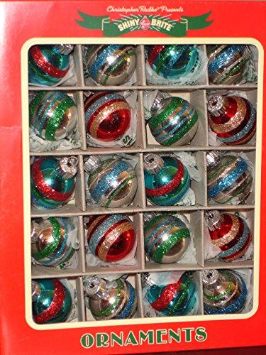 Radko Shiny Brite Mini Glass Ornaments Balls Metallic & Glitter (Vintage Shiny Brite Ornaments compare prices)