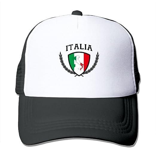 cbf98592 ZXM Caps Italia Italy Italian Flag Summer Printed Adjustable Stylish ...