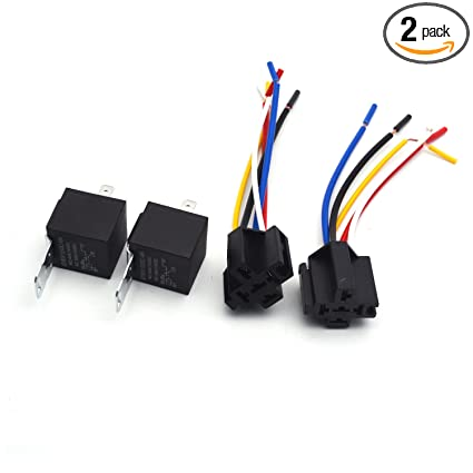 Amazon.com: Antrader Car Relay 5-Pin SPDT 12V 30/40 Amp Waterproof on 2 pole relay wiring, spdt relay wiring, 4 pole relay wiring, plug in relay wiring, high power relay wiring, hella relay wiring, 240v relay wiring, 3 pole relay wiring, 40 amp fuse box,