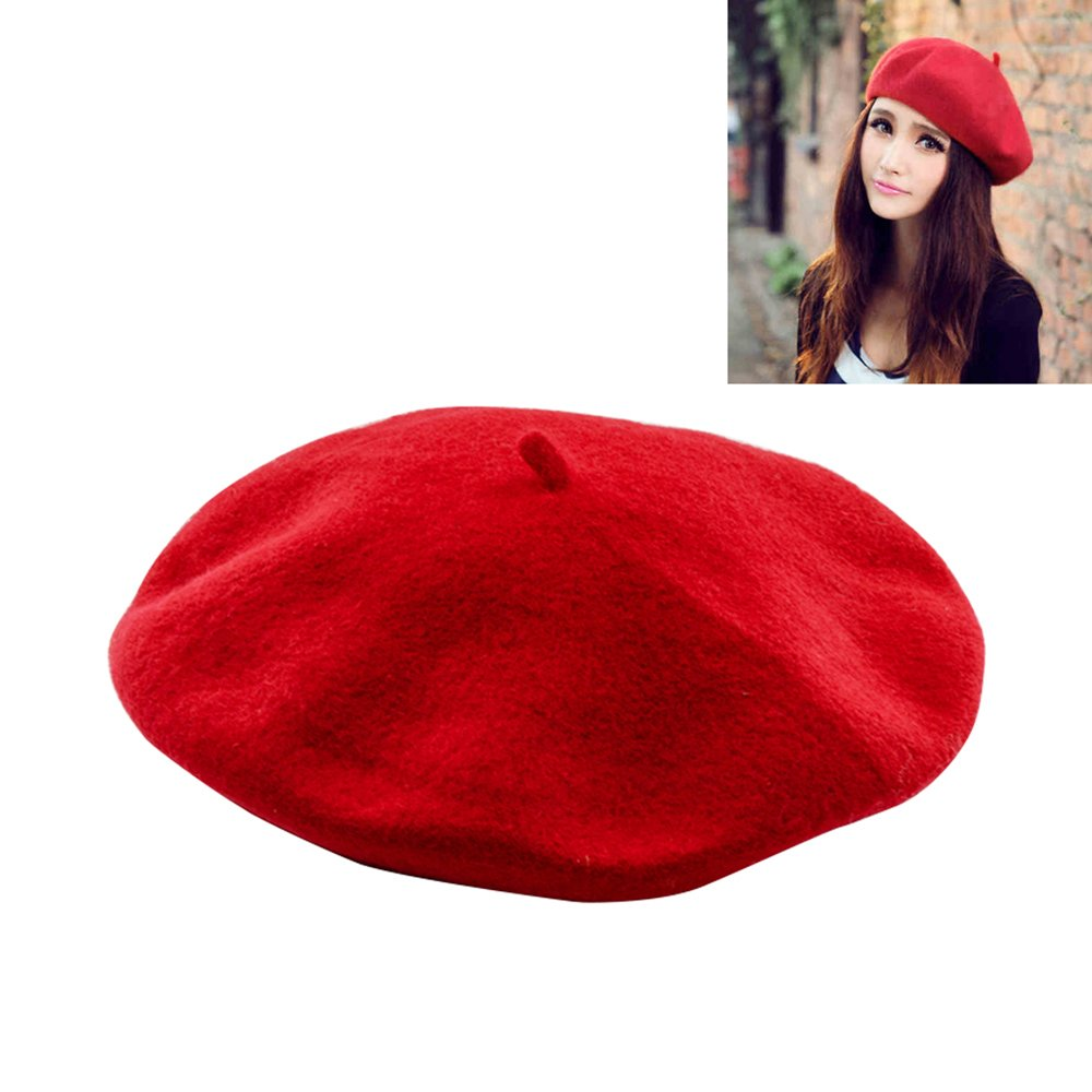 HOTBESTUS Wool Beret Hat French Beret Women Winter Autumn Hat