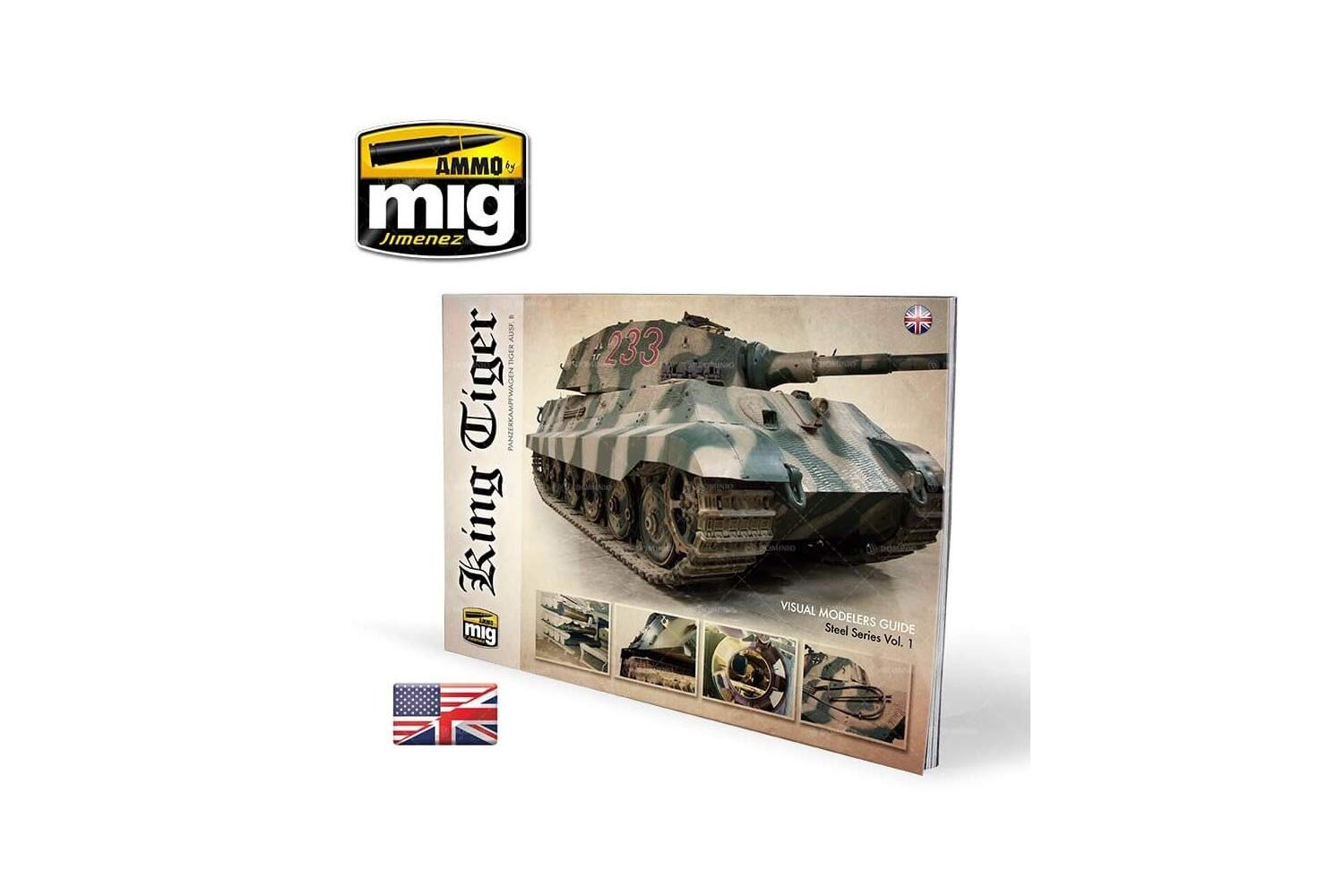 Ammo of Mig King Tiger Visual Modelers Guide English #6022