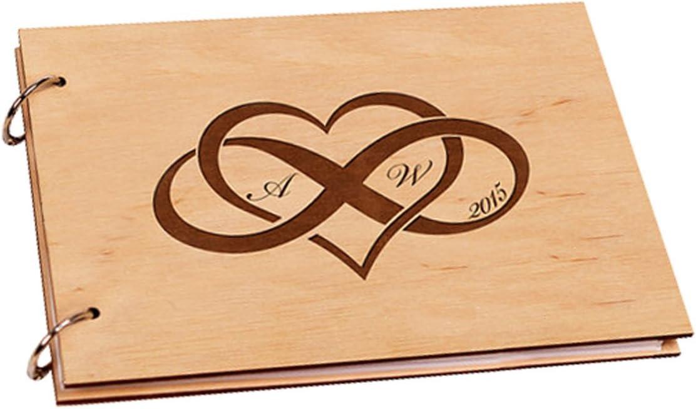 Inciso amore infinito personalizzato iniziale regali di anniversario di matrimonio Scrap Book album per foto 20,3/x 30,5/cm